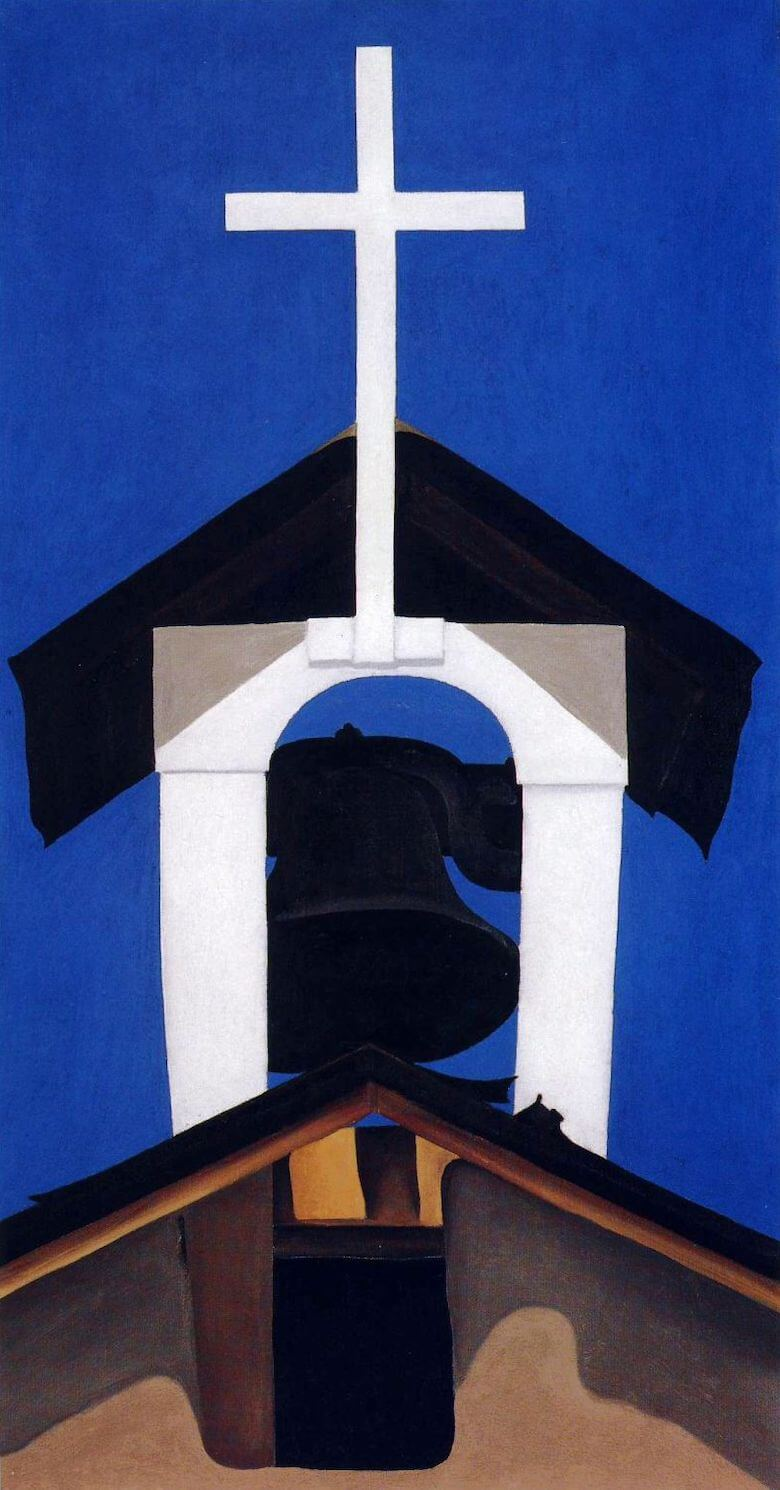 Bell Cross Ranchos Churc, New Mexico, 1930 by Georgia O'Keeffe