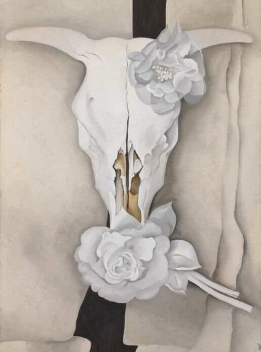Cow's Skull with Calico Roses, 1931 by Georgia O'Keeffe