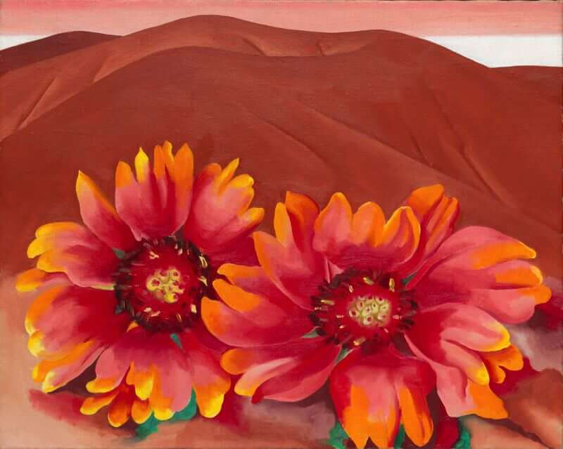 Red Hills with Flowers, 1937 by Georgia O'Keeffe